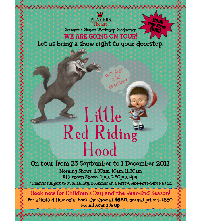 Little Red Riding Hood Goes On Tour. Book now!